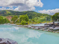 絶景露天風呂「こまくさの湯」遥か山並を望む絶景!