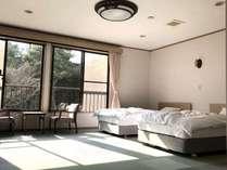 山側 ゆったりツインベッドルーム 【大三島】4