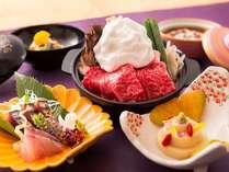 ■<神戸牛すき焼き付>月替会席 旨味たっぷりの<神戸牛すき焼き>や旬の品々が並びます♪