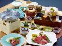 ■<証明書付>神戸牛会席 当館イチオシ♪証明書付の最高級神戸牛をステーキやしゃぶしゃぶで!