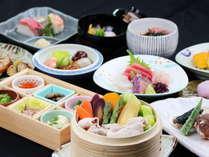 和食「海山」ディナーコースのイメージです。※アレルギー対応はできません。