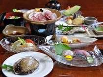 日本海の磯の香り漂う!アワビ会席(例)