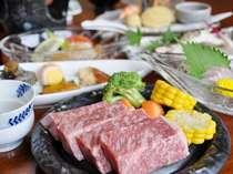 しまね和牛(130g)ステーキ付き会席(例)