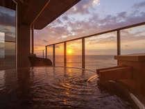 6階確約♪温泉掛け流し露天風呂付客室【星辰】は海と対座する絶景の眺め