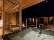 潮騒倶楽部『海生』季節により露天風呂からお月さま