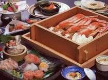 中身たっぷりのずわいガニと真鶴港水揚げ地魚を楽しむ♪【地魚刺身&かに蒸篭プラン】