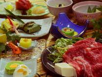 【和牛しゃぶしゃぶプラン料理の一例】