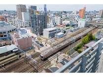 ★一部のお部屋からは東海道本線が一望できます!
