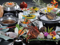 【冬の椿会席】あわび踊焼&伊勢海老造&クエ鍋の質重視■お料理の量少なく美味しいとこだけ♪