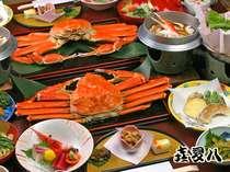 """お一人様に一杯づつの""""ずわい蟹""""を中心にたっぷりと冬の北陸の""""食""""をお楽しみ下さい!!"""