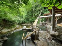 【広瀬川源流露天風呂】4つの湯舟とよもぎ蒸し風呂で湯めぐりをどうぞ。