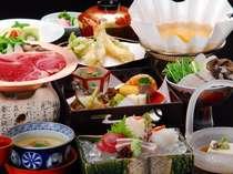 季節の食材を使用した自慢の会席料理