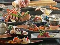 翡翠桟敷のお料理例♪日本料理と炙り焼きのコラボ☆