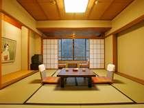 ≪華翆苑≫お部屋は和室10畳のお部屋に応接セット付き♪ウォシュレットを完備