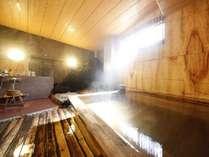 【源泉掛け流し貸切風呂無料!】常楽の湯:露天風呂と檜のお風呂がセットになっています。