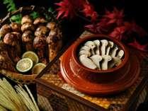 【界箱根の極み 秋の特選会席】松茸ご飯や土瓶蒸しなど秋限定の味覚を寄木の器で(イメージ)