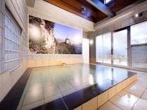 男性浴場【浴槽】お仕事や旅の疲れは、広々大浴場で癒されます♪