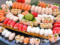 ≪夕食バイキング≫目移りするほど多彩なにぎり寿司を存分にお楽しみください。
