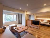 【平成モダン ツインルーム】63平米の広々とした2名様用客室です。