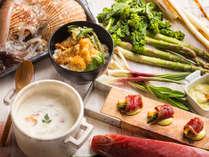 【青函市場一例】春野菜や旬の魚介を多彩なアレンジでご提供します。
