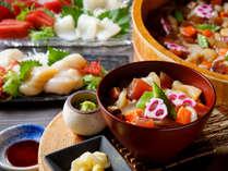 【青函市場一例】新鮮なマグロ・ホタテ・イカ・タコ・サーモンを使用した海鮮ちらしは絶品です。