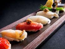 【会席一例】厳選魚介をお寿司でもどうぞ(変更の場合あり)