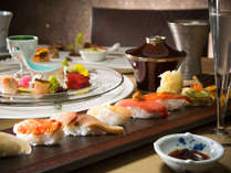 【2020年冬・会席一例】厳選魚介をお造りやお寿司でも。(変更の場合あり)