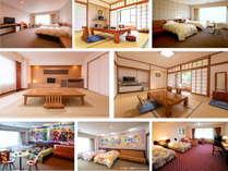 お部屋タイプ「ホテルおまかせ」和室は10畳以上洋室はツイン以上で各お部屋40平米以上となります。