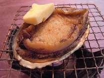 鮑踊り焼き(お好みでバターまたはレモンで味をお楽しみください)