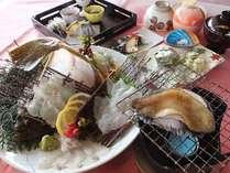 お手軽会席【あわび踊り焼・平目姿造り】◆夕・朝食付◆女性やシニアにおすすめ♪