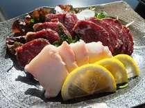 年末年始期間限定【馬刺し・あわび踊り焼き・地魚・熊本産黒毛和牛ステーキ】◆2食付◆
