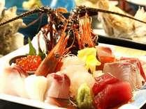 お刺身・豪華海鮮<汐彩会席コース>料理。伊勢海老が付きます♪