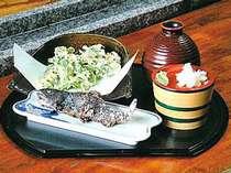「吾妻庵」の揚げたてクレソンの天ぷら&焼き立ての岩魚の塩焼き!