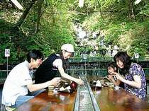昼食はこちらで→「吾妻庵」で、大自然に囲まれて味わう流しそうめんは、夏季限定!