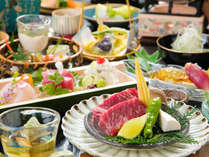 地の食材に、「旬の彩」を添えた料理長のこだわり光る『創作会席』~目で、舌で香りでお楽しみ下さい~