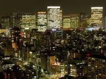 【西北側】日本橋方面~新宿・赤坂方面一例(客室からの夜景)