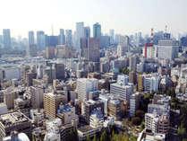 【北~西側】日本橋、新宿・赤坂方面の風景(客室からの風景一例)
