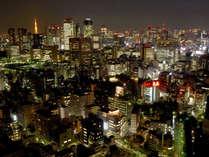【北~西側】日本橋、新宿・赤坂方面の夜景(客室からの夜景一例)