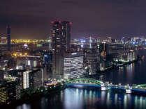 ≪「しゃぶ禅」からの夜景≫地上120mのからの景色とともにお食事をお楽しみください。