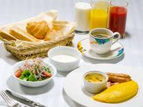 ≪ご朝食(洋食一例)≫ご朝食は和定食か洋定食をご用意いたします。