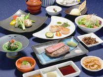≪ご夕食≫シェフの鮮やかな手さばきが味覚を刺激する鉄板焼き