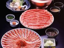≪ご夕食≫国産牛と岩手県の銘柄豚「岩中豚」がしゃぶしゃぶで食べ放題!