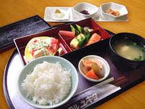 和定食の一例。道産米を使用、朝から「おいしい」の声が聞きたくて
