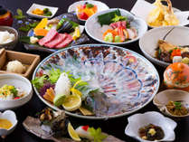 イカ&佐賀牛会席/イカは水イカです(一例)