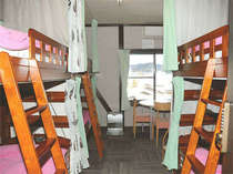 女性専用ドミトリー:6名女性のみ共同のお部屋です。Female dormitory:6 beded shared room.