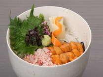濃厚雲丹と新鮮蟹の丼昼食付き
