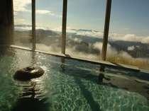 お風呂からは、南アルプス,富士山等,絶景が・・