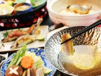 【鮎づくし】アユ料理を中心に、地の物にこだわっている和食膳です