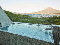 露天風呂から眺める富士山は絶景です