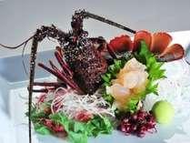 ◆お日にち限定◆【お料理が♪得々】伊勢エビ姿造り&紀州本クエ小鍋付プラン